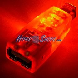 Adaptador USB con LED NARANJA (AH/BM)