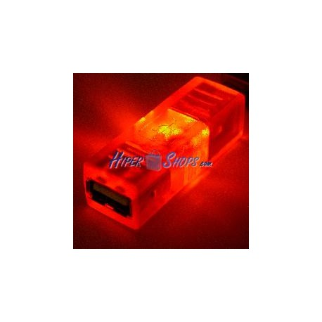 Adaptador USB con LED NARANJA (AH/BH)