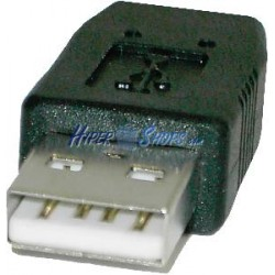 Adaptador USB (AM/MiniUSB4pin-BM) Mitsumi