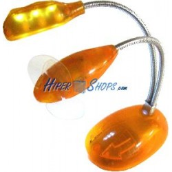 Lámpara USB de 3 LED con brazo flexible ventilador y peana
