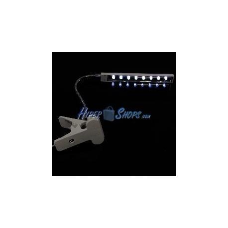 Lámpara USB de 8 leds con brazo flexible