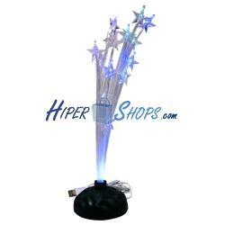 Arbol de estrellas de fibra óptica por USB