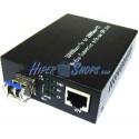 Conversor de fibra óptica 1000 Mbps multimodo de LC y SFP a RJ45 a 550m