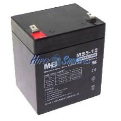 Batería sellada de plomo-ácido de 12V 5Ah recambio SAI