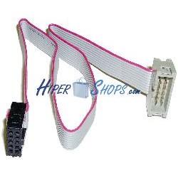 Cable interno IDC10 para puerto USB y serie de 30 cm macho a hembra