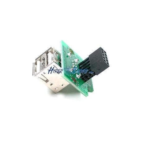 Adaptador USB de placa madre 2x5 pin a 2xAH