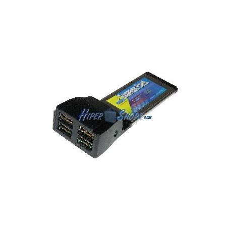 Tarjeta ExpressCard USB 2.0 4-Port (4AH)