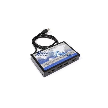 Concentrador USB de 4 puertos aislado protegido Titan HUB-400-ISO