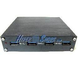 """Concentrador SuperSpeed USB 3.0 de 4 AH bahía 3.5"""" a PCIe"""