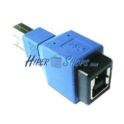 Adaptador USB 3.0 (B Macho a B Hembra)