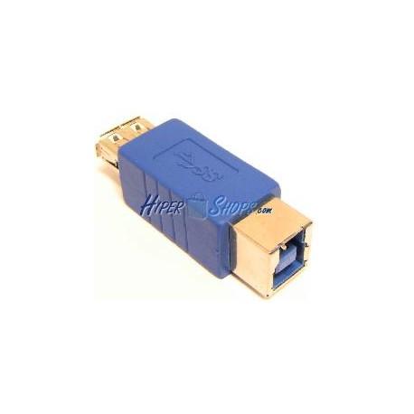 Adaptador USB 3.0 (A Hembra a B Hembra)