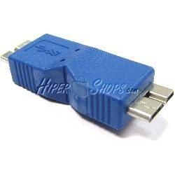 Adaptador USB 3.0 (MicroUSB B Macho a MicroUSB B Macho)