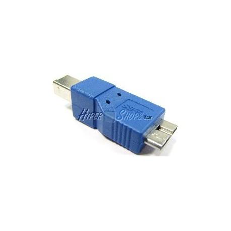 Adaptador USB 3.0 a USB 2.0 (MicroUSB B Macho a B Macho)