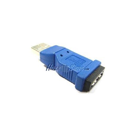 Adaptador USB 3.0 a USB 2.0 (MicroUSB AB Hembra a A Macho)
