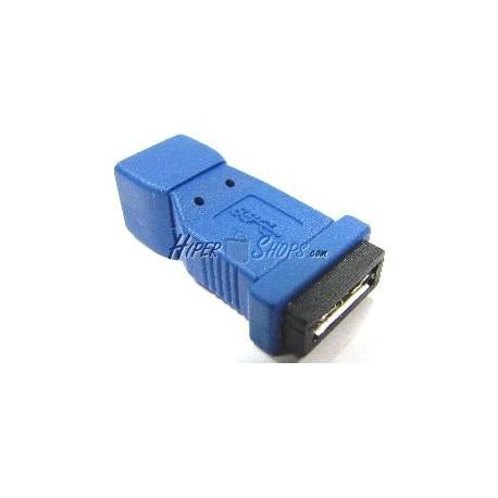 Adaptador USB 3.0 a USB 2.0 (MicroUSB AB Hembra a MiniUSB B Hembra)