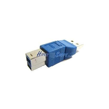 Adaptador USB 3.0 a USB 2.0 (B Macho a A Macho)