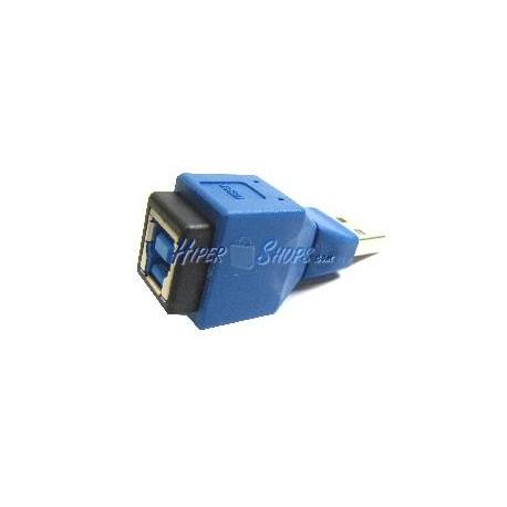 Adaptador USB 3.0 a USB 2.0 (B Hembra a A Macho)