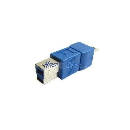 Adaptador USB 3.0 a USB 2.0 (B Macho a MiniUSB 5 Pins A Macho)