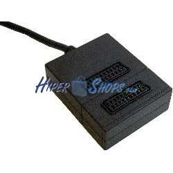 Base 2 Euroconector/SCART (1 Macho a 2 Hembra)