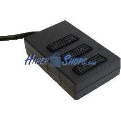 Base 3 Euroconector/SCART (1 Macho a 3 Hembra)