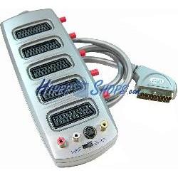 Selector 5 Euroconector/SCART + CVBS/SVHS (1 Macho a 5 Hembra)
