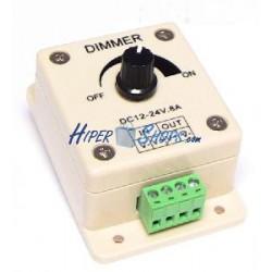Regulador de intensidad para tira de LEDs monocromo de 8A analógico