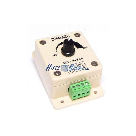 Regulador de intensidad para tira de leds monocromo de 8a anal gico hiper leds - Regulador de intensidad ...