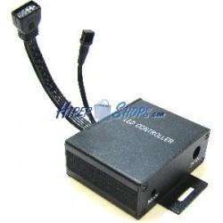 Controlador para tira de LEDs RGB de 18A con control remoto IR (A)