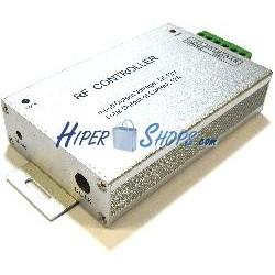 Controlador para tira de LEDs RGB de 12A 12-24VDC con control remoto RF
