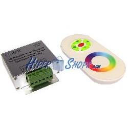 Controlador para tira de LEDs RGB de 18A con control remoto RF (C)
