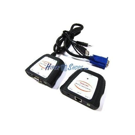 Extensor de VGA y Audio sobre Cat.5e (30 m)
