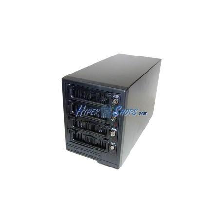 Caja Externa VIPower SATA-HDD a USB2 (4xHDD/Plástico/Negro)