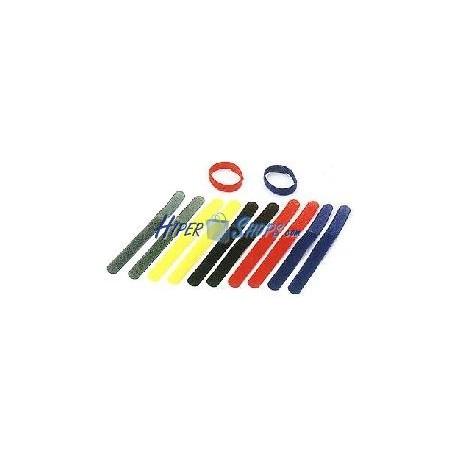 Cinta adherente ordena cables 20x185mm multicolor 10 unidades