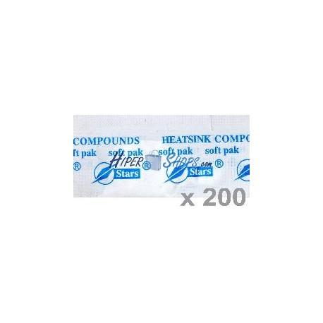Pasta Térmica de Silicona (Bolsita 1g) 200 Pack