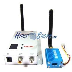 Transmisor inalámbrico de audio y vídeo de 2,4 GHz y 100 mW