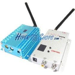 Transmisor inalámbrico de audio y vídeo de 2,4 GHz y 2000 mW