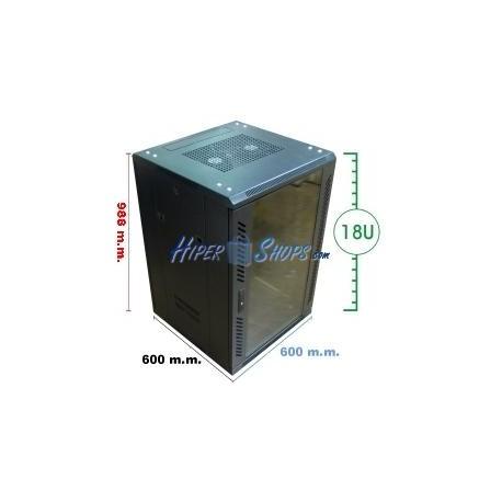 Armario rack 19'''' de pie 20U 600x600x1000mm MobiRack de RackMatic
