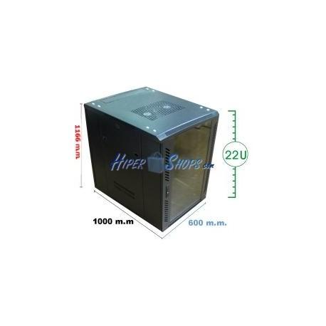 Armario rack 19'''' de pie 24U 600x1000x1200mm MobiRack de RackMatic