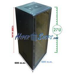 Armario rack 19'''' de pie 29U 600x600x1400mm MobiRack de RackMatic