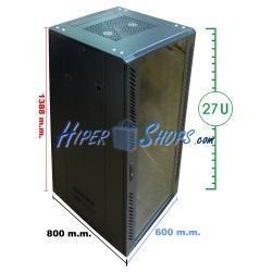 Armario rack 19'''' de pie 29U 600x800x1400mm MobiRack de RackMatic