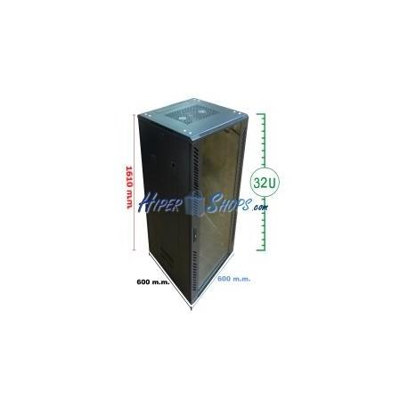 Armario rack 19'''' de pie 33U 600x600x1600mm MobiRack de RackMatic