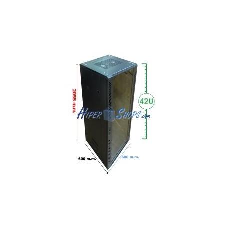 Armario rack 19'''' de pie 42U 600x600x2000mm MobiRack de RackMatic