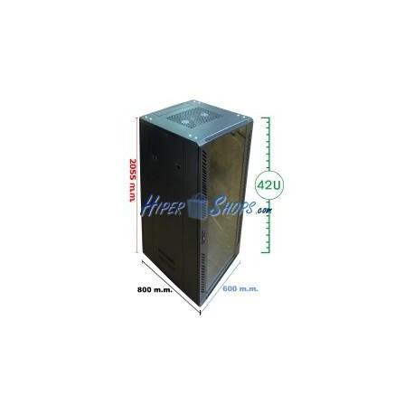 Armario rack 19'''' de pie 42U 600x800x2000mm MobiRack de RackMatic