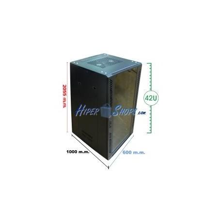 Armario rack 19'''' de pie 42U 600x1000x2000mm MobiRack de RackMatic