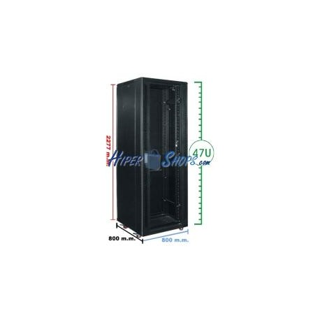 Armario rack 19'''' de pie 47U 800x800x2200mm MobiRack de RackMatic
