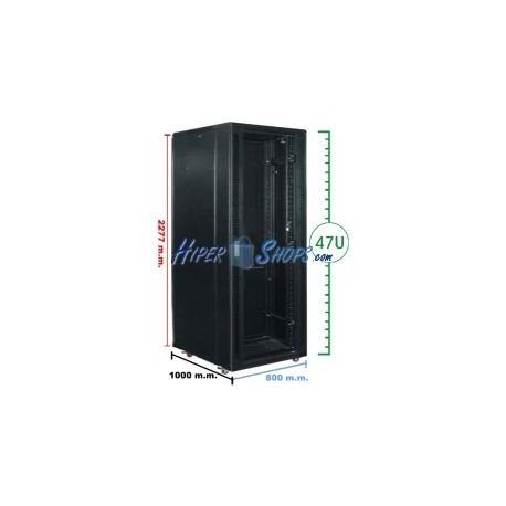 Armario rack 19'''' de pie 47U 800x1000x2200mm MobiRack de RackMatic