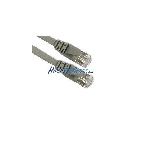 Cable FTP categoría 5e plano gris 2m