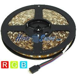 Kit de tira de LEDs flexible 13 lm/led 60 led/m de 5m IP65 RGB