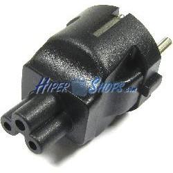 Adaptador de conector IEC-60320 C5 a Schuko