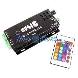 Controlador para tira de LEDs RGB de 12A Music IR Controller